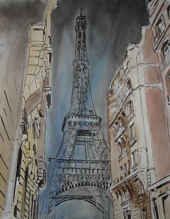 tour eiffel croquis paris