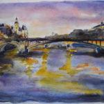 La Seine et le pont au Change par Ann Abel Iseux
