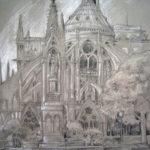 Dessin chevet de Notre Dame par Harry Boudchicha