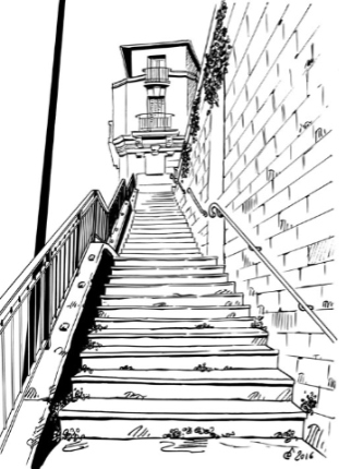 escaliers dessin paris