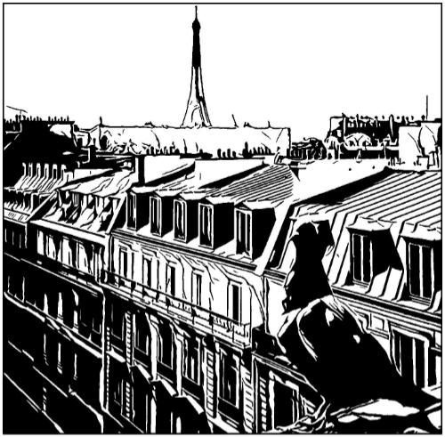 illustration toits paris
