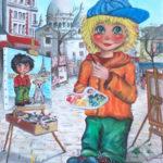 Poulbot place du Tertre par Willy et Emily Marceau