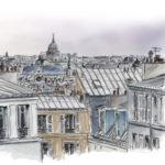 Les toits de Paris par Sophie Rocher