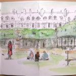 Croquis Place des Vosges par Jane Klares