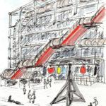 Croquis à Beaubourg par Jane Klares