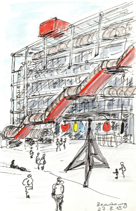 croquis beaubourg