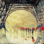 Parapluies sous la Tour Eiffel par Alex Lanser