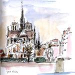 Chevet de Notre-Dame par Jane Klares