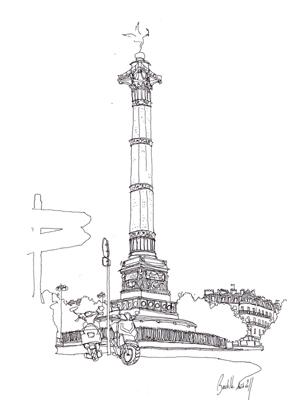 dessin colonne de juillet