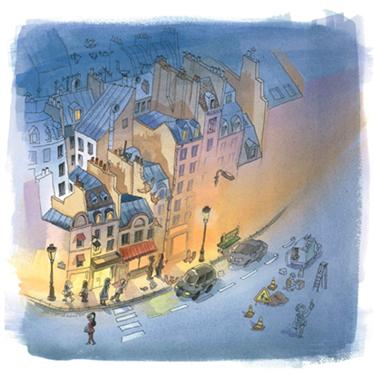 dessin rue du jour