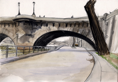 dessin pont neuf