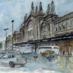 Dessin de la gare du Nord par Justine Gasquet