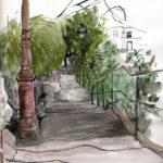 Escalier du Sacré-Coeur par Justine Gasquet