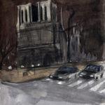 Notre-Dame de nuit par Justine Gasquet