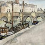 Péniche devant le Pont-Neuf par Justine Gasquet