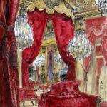 Salon Napoleon III du Louvre par Justine Gasquet