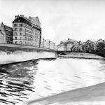 Lavis des quais de Seine par Justine Gasquet