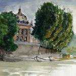 La Seine et le quai Malaquais par Justine Gasquet