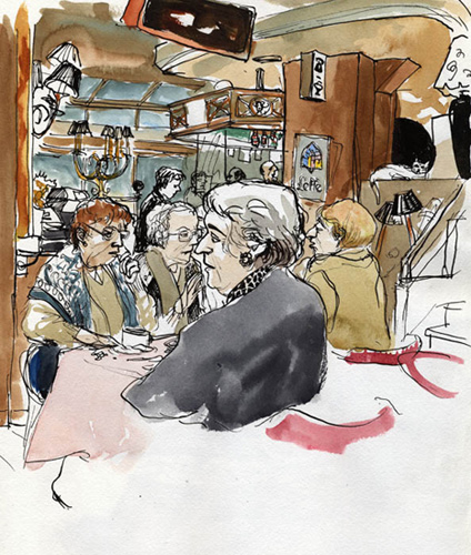 dessin café nord sud