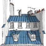 Toits rue d'Aboukir par Patrice Rambaud