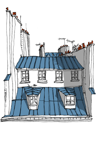 dessin toits paris