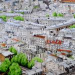 Aquarelle des toits de Paris par Julien Dugué