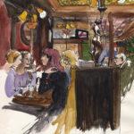Intérieur d'un café par Justine Gasquet