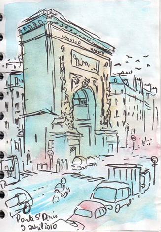 dessin porte de saint denis