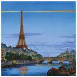 Tour Eiffel en soirée par Jean-Martial Dubois