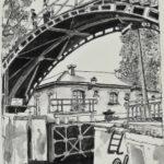 Passerelle du canal par Françoise Drapron