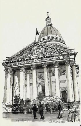 dessin pantheon