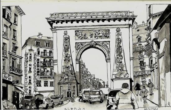 Dessin Porte St Denis