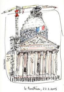 pantheon dessin travaux