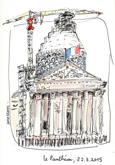 pantheon dessin travaux